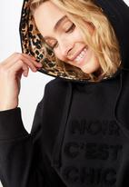 Cotton On - Premium fashion hoodie  - black