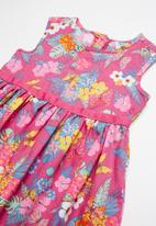 POP CANDY - Fit and flare tropical print dress - multi