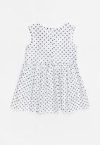 POP CANDY - Fit and flare spot print dress - black and white