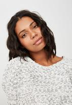 Cotton On - Stacey long sleeve texture top  - white
