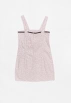 POP CANDY - Bow summer spot printed dress - pink