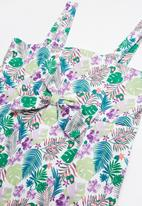 POP CANDY - Bow summer tropical printed dress - multi