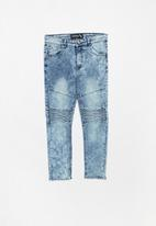 Twin Clothing - Biker denim jeans - blue