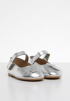 POP CANDY - Printed butterfly pump - silver