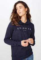 Cotton On - Delevingne graphic hoodie  - blue