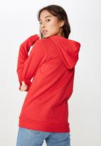 Cotton On - Delevingne graphic hoodie  - red