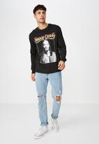Cotton On - Tbar long sleeve collaboration tee - black