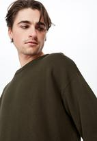 Cotton On - Lightweight crew neck sweater - khaki