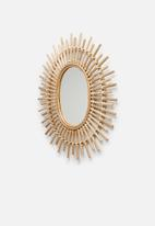 Sixth Floor - Rae rattan mirror - natural