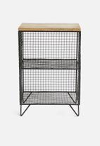 Sixth Floor - Orion side table - black/natural