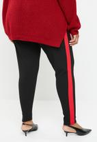 Missguided - Curve trouser with red tape - black