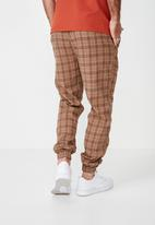 Cotton On - Drake cuffed pants - brown