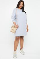 Missguided - Curves oversized sweat dress - grey