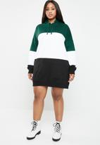 Missguided - Curves colourblock sweat dress - multi
