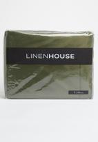 Linen House - Selma throw - olive