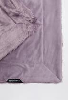 Linen House - Chanel faux fur throw - elderberry