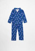 POP CANDY - Cars full flannel pyjama top & bottom - blue