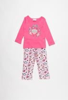 POP CANDY - Single jersey flannel pink party - multi