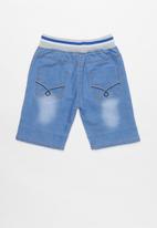 POP CANDY - Boys jean shorts - blue