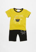 POP CANDY - Printed set - yellow & black