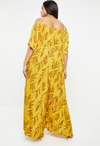 Plus-Fab - Palazo jumpsuit - yellow