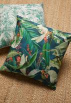 Grey Gardens - Macaw cushion cover - indigo