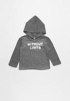 POP CANDY - Hooded top - black & grey