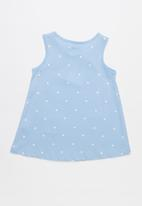 POP CANDY - Printed sleeveless vest - blue