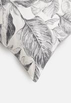 Grey Gardens - Layered leaf cushion cover - charcoal