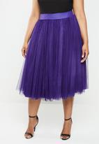 Plus-Fab - Short tulle skirt - purple