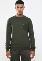 Brave Soul - Codex crew neck sweater - khaki