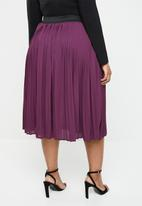 STYLE REPUBLIC PLUS - Pleated skirt - purple