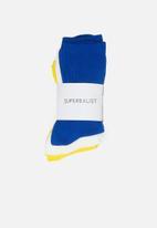 Superbalist - 3 pack cotton ankle socks - multi