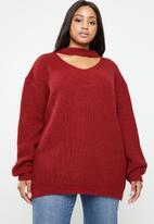 STYLE REPUBLIC PLUS - Choker style jersey - red