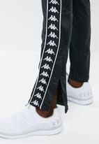 KAPPA - Banda astoria snap pant - black & white