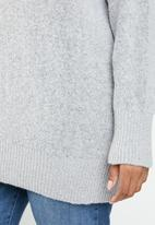 STYLE REPUBLIC PLUS - Oversized knit jersey - grey