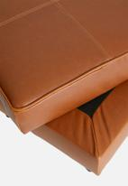 Sixth Floor - Cigar ottoman - brown