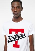 Tommy Hilfiger - T-script logo tee - white