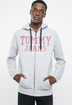 Tommy Hilfiger - Tjm essential graphic zipthru - grey