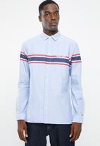 Tommy Hilfiger - Tjm placement stripe woven shirt - blue