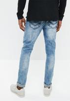 S.P.C.C. - Feather jeans - blue