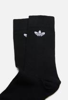 adidas Originals - Thin trefoil crew socks - black