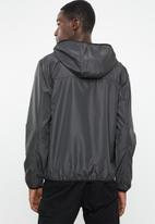 Brave Soul - Peppkb lightweight hooded windrunner - charcoal