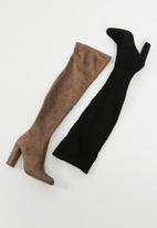 Steve Madden - Emotions over the knee boot - brown