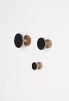 Sixth Floor - Mika hooks set of 3 - black