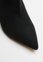 ALDO - Textile sock ankle boot - black