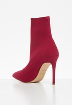 ALDO - Textile sock ankle boot - red