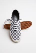 Vans - Authentic checkerboard sneakers - grey & white