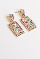 STYLE REPUBLIC - Statement sequin earrings-multi