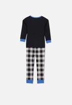 Cotton On - Long sleeve pyjama set - Black & Blue